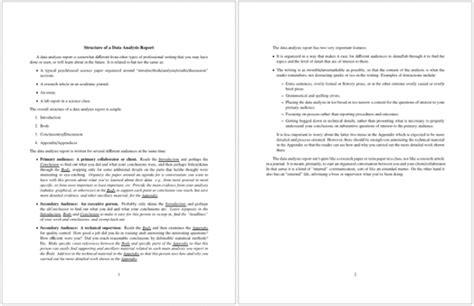 10 Analysis Report Templates Free Printable Word Pdf Data Report Template Free