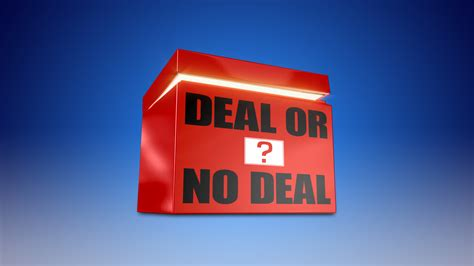 Welcome To The Official Deal Or No Deal Website Deal Or No Deal