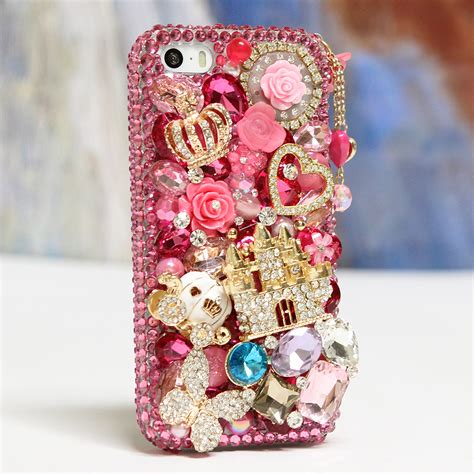 Po Custom In Pink Charm For Iphone Samsung Limited bling crystals phone for iphone 6 6s iphone 6 6s