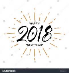 2018 happy new year beautiful greeting stock vector