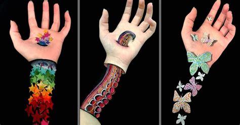 ilusiones opticas hechas a mano esta chica crea asombrosas ilusiones 243 pticas sobre sus manos