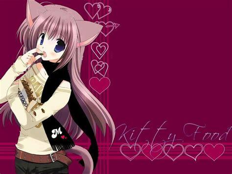 wallpaper anime neko hd cute neko anime wallpaper wallpapersafari