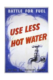 use less water battle for fuel use less hot water poster giclee print