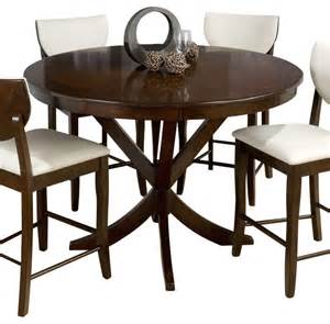 Counter Dining Tables Jofran 433 54 Satin Walnut Pedestal Counter Height Table Traditional Dining Tables