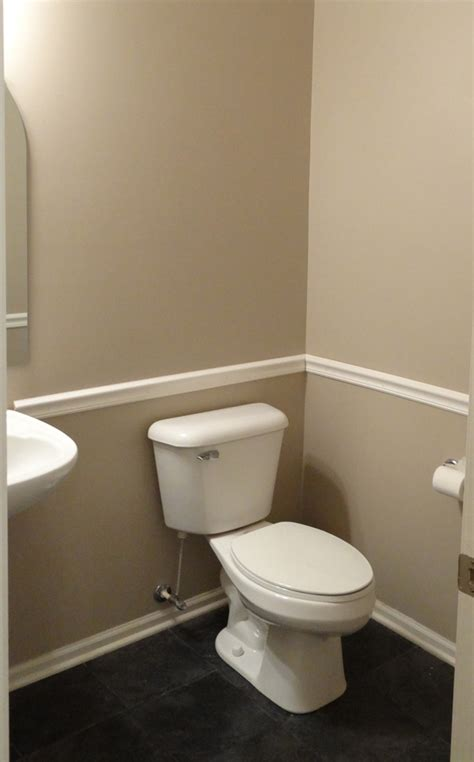 bathroom chair rail ideas powder bathroom makeover reveal