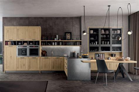 cucine con tavolo incorporato cucina stile industrial chic con penisola e tavolo
