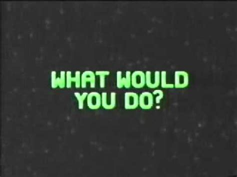 nickelodeon coming up next what would you do? to wild