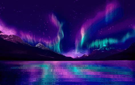 the light of northern fires aurora borealis fire rainbow by aparks nature gifs
