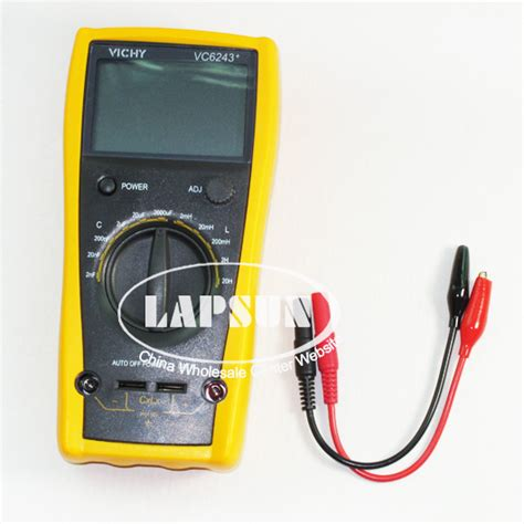 capacitor digital multimeter lcd capacitor capacitance digital multimeter lc meter inductance 2mh 20h vc6243 ebay