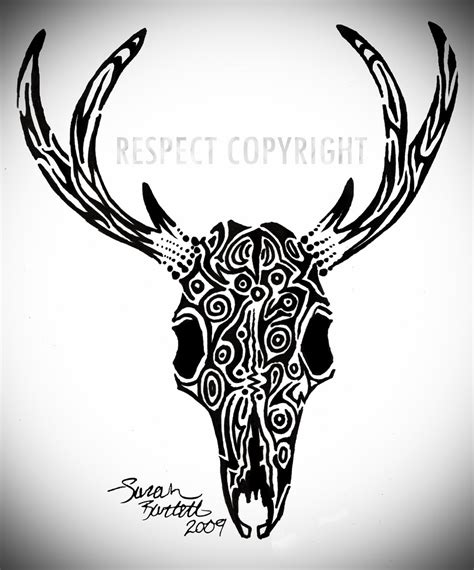 deer skull tribal tattoos deer skull since the tribal tattoos i did on my