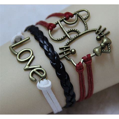 Gelang Bracelet gelang vintage cat leather bracelet bangle q7 multi color jakartanotebook