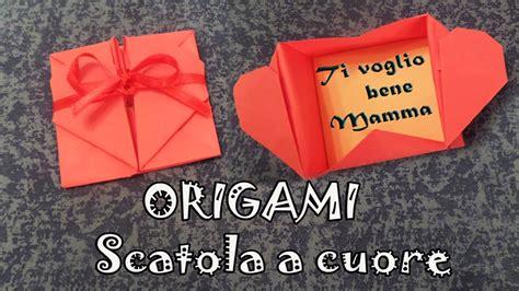 tutorial origami a cuore origami tutorial scatola a forma di cuore per la festa