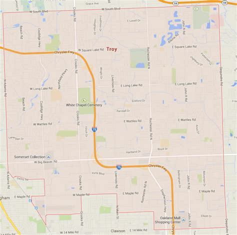 troy usa map troy michigan map