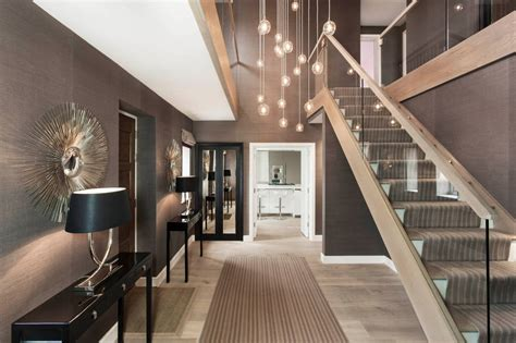hallway stairs lighting contemporary house in ahmedabad modern corridor hallway stairs photos entrance hall