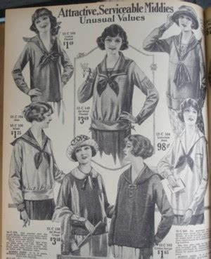 Middy Blouse Fashion 2 tuppence ha sailor style evolution part 2 the rise