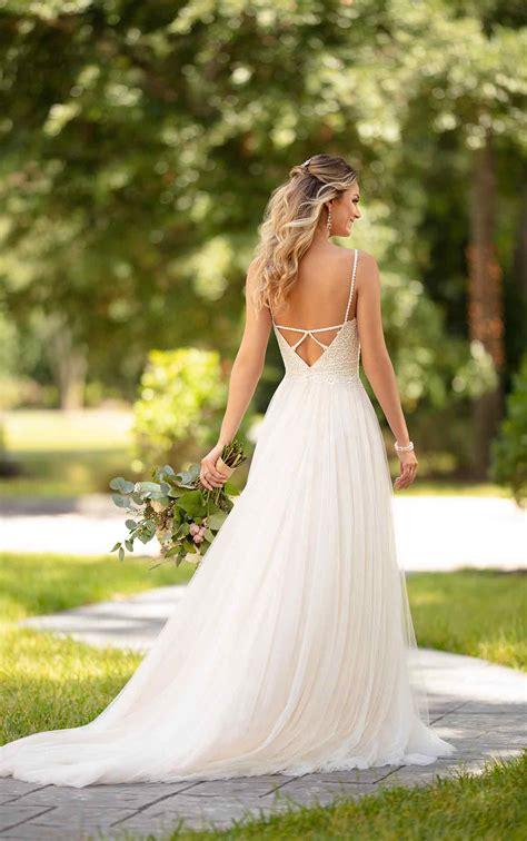 casual wedding dress   detail stella york