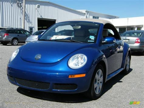volkswagen beetle 2017 blue 2007 volkswagen new beetle 2 5 convertible in laser blue