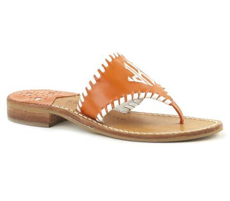 monogrammed sandals rogers womens monogrammed sandal in orange lyst