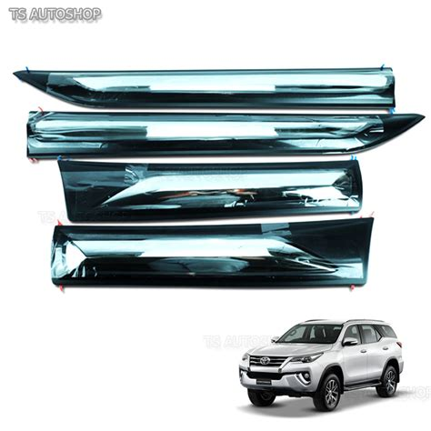 Front Guard Abs Model Fortuner A White With Ledbracket Avanza 2011 fitt chrome side door cladding moulding trims guards toyota fortuner suv 2016 ebay