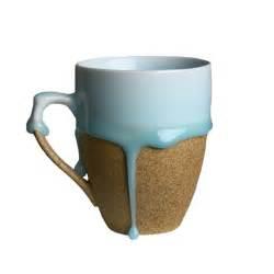 creative mug handmade creative ceramic blue flow glaze mug round
