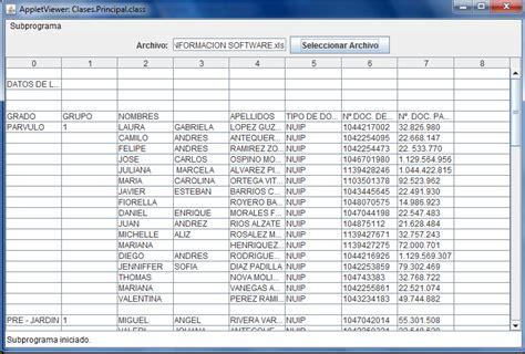javax swing table leer archivo de excel desde java my java zone