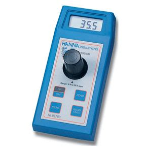 Hi 96750 Potassium Portable Photometer delagua product 11232 instruments cod and multiparameter photometer with bar code