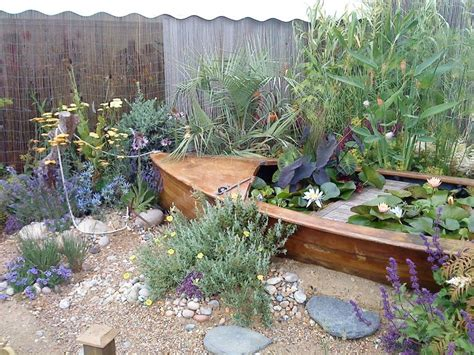 beach themed backyard beaut beach nautical garden with a boat lily pond and