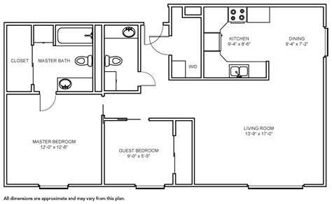2 bedroom 1 bath floor plans 2 bedroom 1 bath apartment floor plans with floorplans