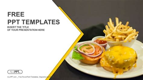 Free Food Powerpoint Templates Design Fast Food Powerpoint Template
