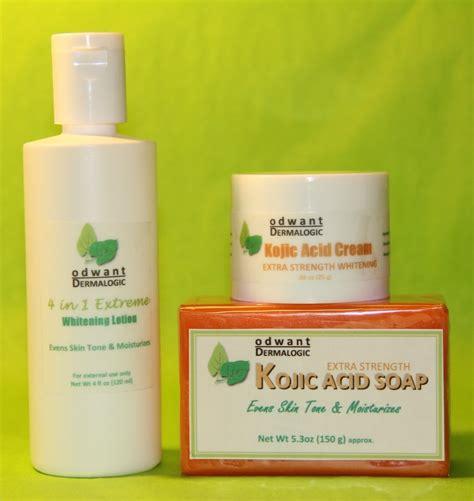 Whitening Bleaching Kojic kojic acid soap 4in1 lotion skin whitening lightening set