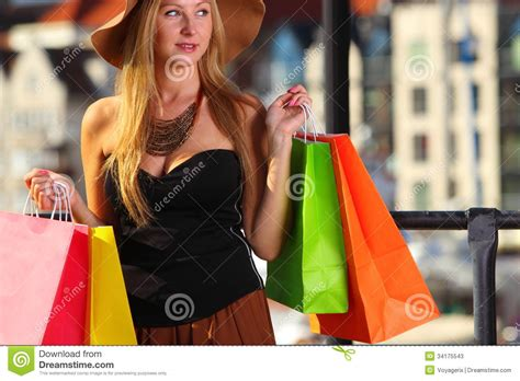 women in this town stylish shopper woman in old town gdansk stock photos image 34175543