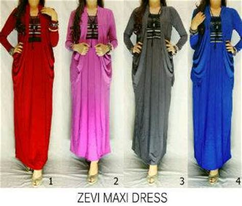 Maxi Trip Dress Busana Muslim zevi maxi dress 145 000 cahaya collection