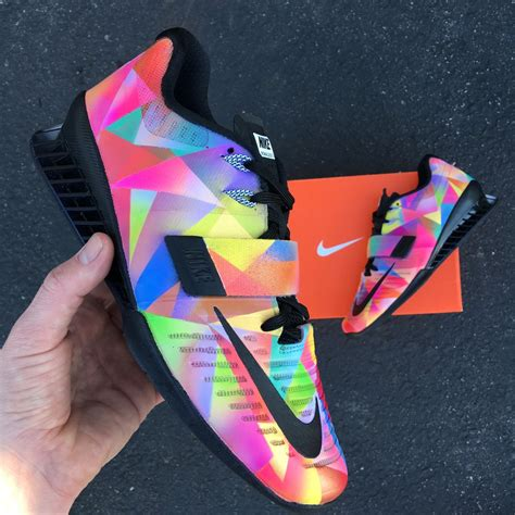Vintage Those Shoes Handmade Painted - nike romaleos 3 prism custom painted weightlifting shoes