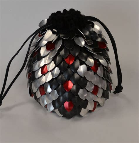 dice bag printable pattern scalemail dice bag of holding knitted dragonhide venomous