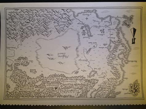 hand drawn map of alagaesia eragon by aorakimaps on etsy