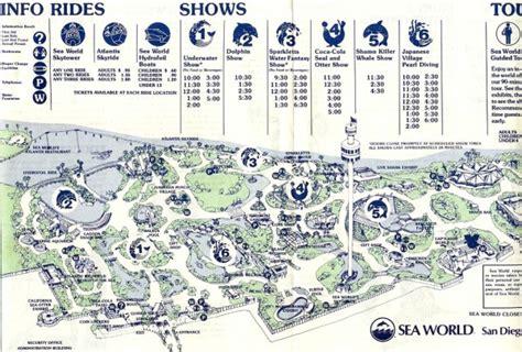 map world san diego theme park brochures sea world san diego theme park