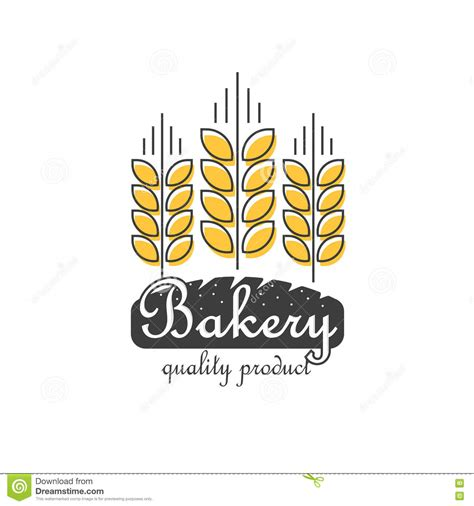 bakery logo vector isolated line outline wheat bread food