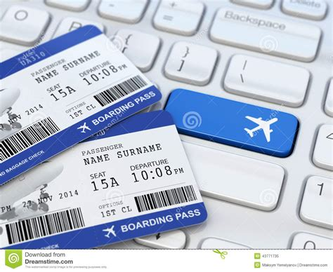 picture ticket booking ticket booking boarding pass on laptop keyboard