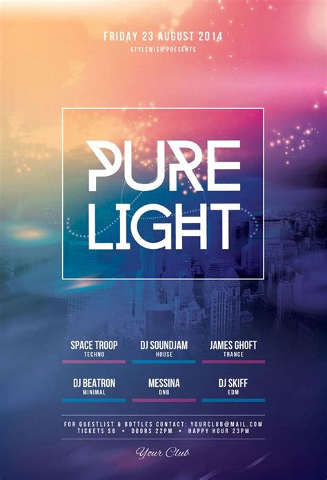template photoshop keren pure light flyer by stylewish download psd file flyer