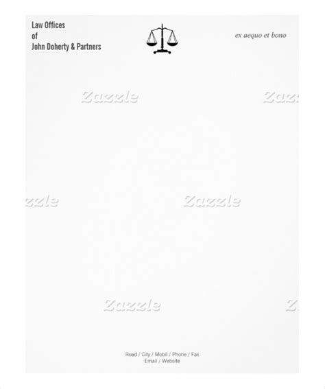 Office Letterhead Template Free by 20 Firm Letterhead Templates Free Sle Exle