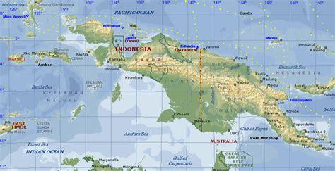 new guinea map new guinea highlands map