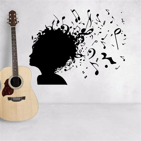 music wall decor wall decal music notes removable vinyl stickers music wall