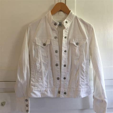 Gap White Denim Jacket gap size xs gap white denim jacket from s s closet on