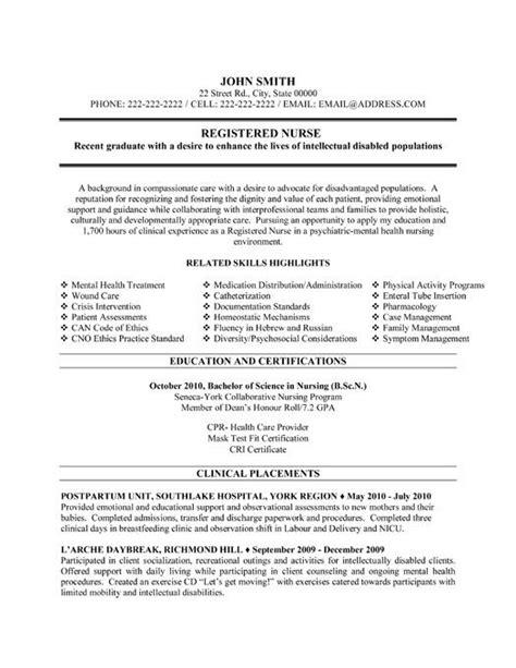 new grad rn resume template entry level nurse resume template free
