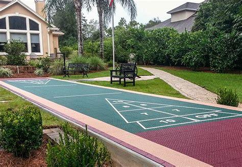 backyard shuffleboard court versacourt outdoor shuffleboard courts diy