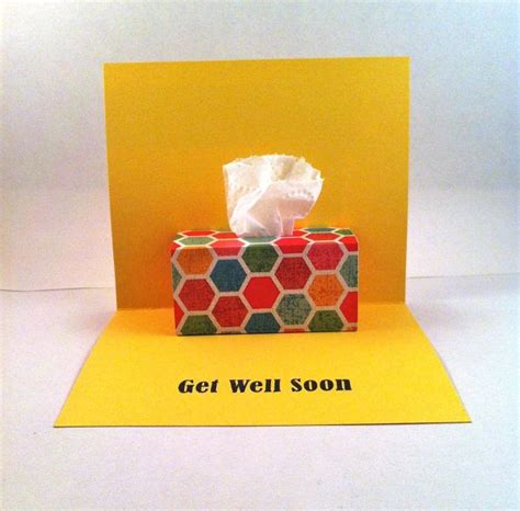 how to make get well soon cards get well soon pop up card tissue box pop up by