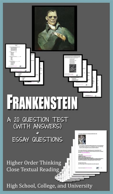 literature a review of readings on frankenstein frankenstein literature ela test essay questions