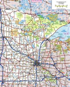 map of roads and highways large detailed roads and highways map of minnesota state