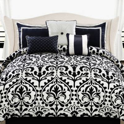 black and white queen bed set buy black and white comforter sets queen from bed bath