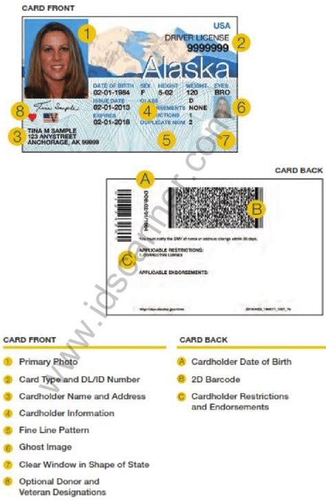 alaska  drivers license design unveiled june  idscannercom  tokenworks